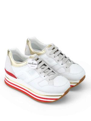HOGAN: sneakers online - Sneaker con dettaglio cuore e maxi plateau
