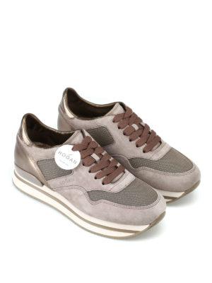 HOGAN: sneakers online - Sneaker stringate scamosciate con lurex