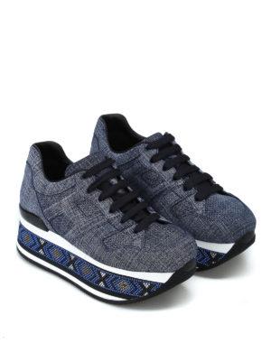 HOGAN: sneakers online - Maxi H222 con strass sulla suola