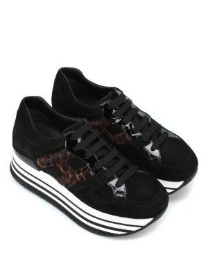 HOGAN: sneakers online - Sneaker Maxi H222 con H in cavallino