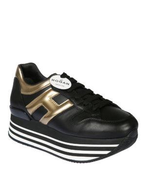 HOGAN: sneakers online - Sneaker Maxi H222 con H metallizzata