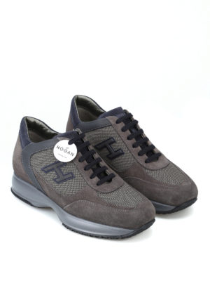 HOGAN: sneakers online - Sneaker New Interactive in suede tortora