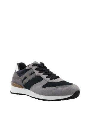HOGAN: sneakers online - Sneaker R261 running grigie e nere