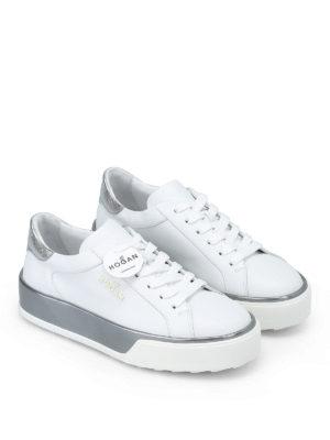 HOGAN: sneakers online - Sneaker R320 in pelle bianca