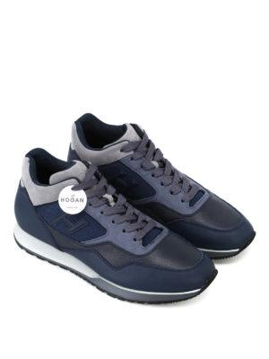 HOGAN: sneakers online - Sneaker medio alte in pelle bicolore H321