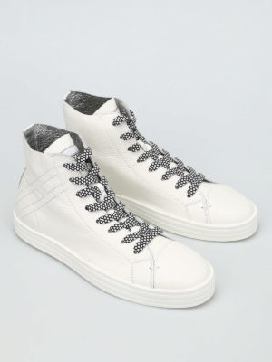 Hogan Rebel: trainers online - R141 high-top leather sneakers
