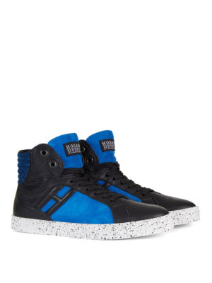 Hogan Rebel: trainers online - R141 leather and suede sneakers