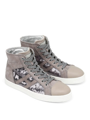 Hogan Rebel: trainers online - R141 sequin and leather shoes