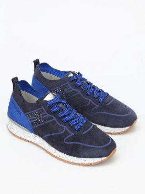 Hogan Rebel: trainers online - R261 drilled suede sneakers