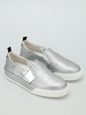 Hogan Rebel: trainers online - R320 glittered slip-ons