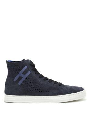 Hogan Rebel: trainers - R141 drilled suede sneakers