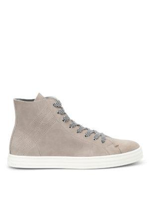 Hogan Rebel: trainers - R141 high-top suede sneakers