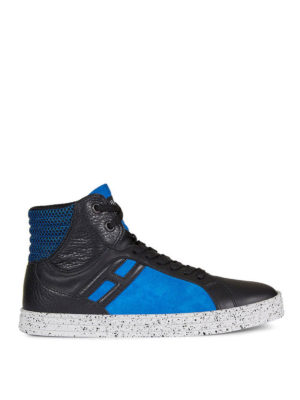 Hogan Rebel: trainers - R141 leather and suede sneakers