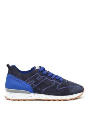 Hogan Rebel: trainers - R261 drilled suede sneakers