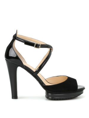 Hogan: sandals - H247 patent and suede sandals