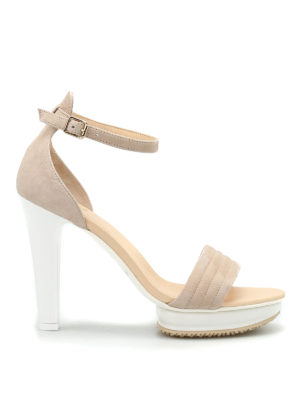 Hogan: sandals - H247 rubber platform sandals