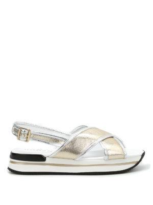Hogan: sandals - H257 criss-cross bands sandals