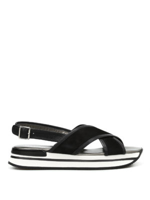 Hogan: sandals - H257 crisscross sandals