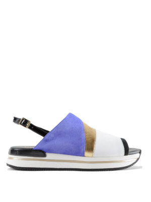 Hogan: sandals - H257 nubuck and leather sandals