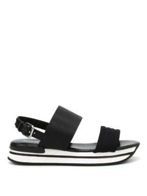 Hogan: sandals - H257 platform sandals