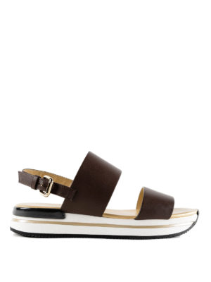 Hogan: sandals - H257 smooth leather sandals