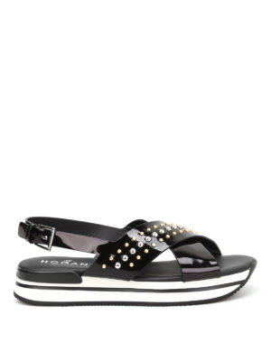 Hogan: sandals - H257 studded sandals