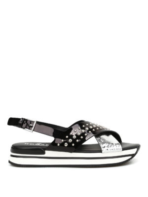 Hogan: sandals - H257 studded sandals