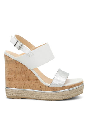 Hogan: sandals - H324 wedge sandals