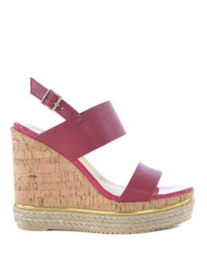 Hogan: sandals - H324 wedge sandals