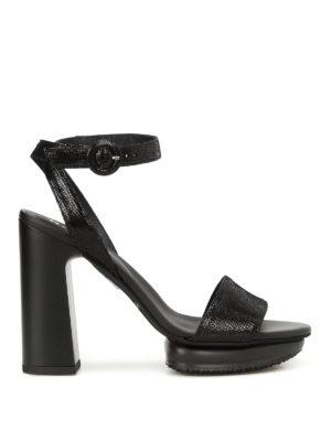 Hogan: sandals - H353 Interactive leather sandals