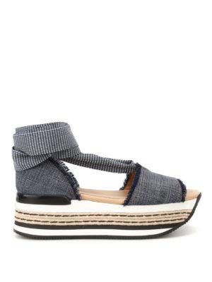 Hogan: sandals - H360 flatform espadrilles sandals