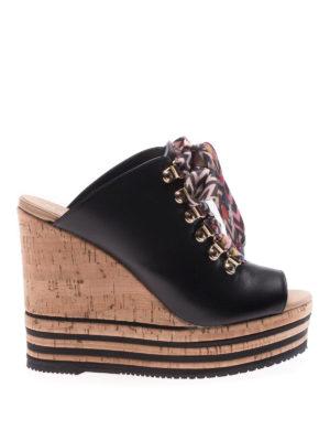 Hogan: sandals - H361 sandals with coloured laces