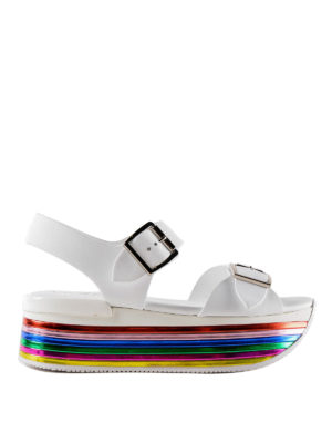 Hogan: sandals - H369 multicolour sole sandals