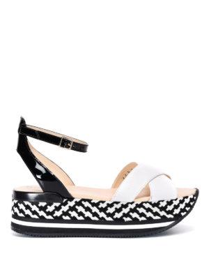 Hogan: sandals - Maxi H222 crisscross bands sandals