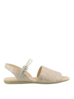 HOGAN: sandali - Sandali piatti rosa metallizzato