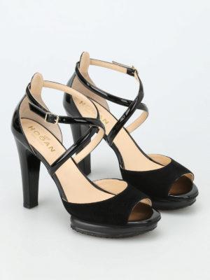 Hogan: sandals online - H247 patent and suede sandals