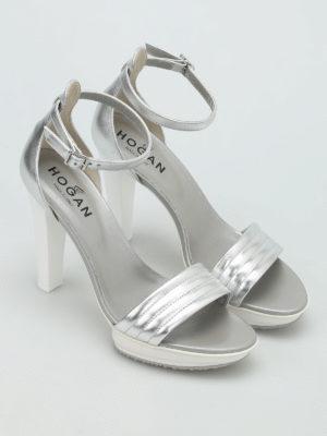 Hogan: sandals online - H247 rubber platform sandals
