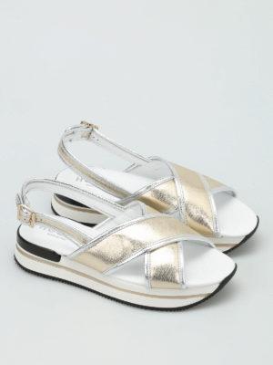 Hogan: sandals online - H257 criss-cross bands sandals