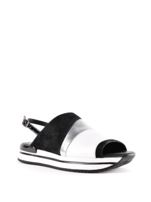 Hogan: sandals online - H257 leather and nubuck sandals