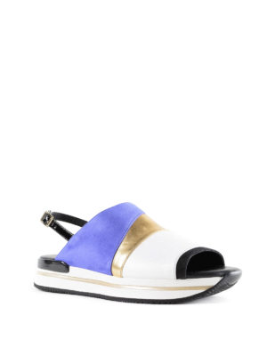 Hogan: sandals online - H257 nubuck and leather sandals