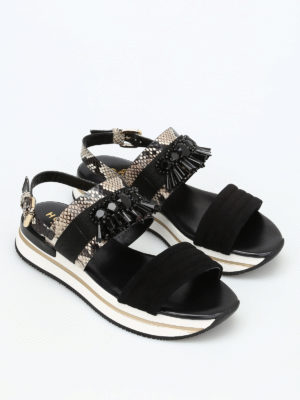Hogan: sandals online - H257 platform sandals