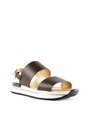 Hogan: sandals online - H257 smooth leather sandals