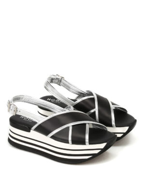 Hogan: sandals online - H294 crisscrossed bands sandals