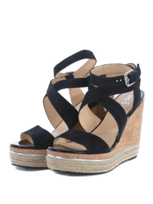 Hogan: sandals online - H324 wedge sandals