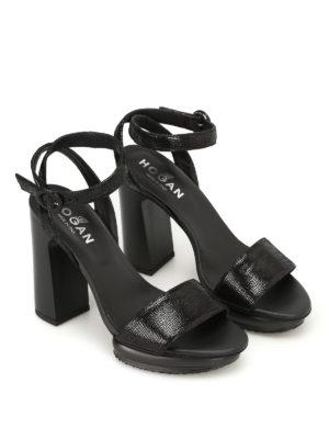 Hogan: sandals online - H353 Interactive leather sandals