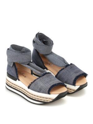 Hogan: sandals online - H360 flatform espadrilles sandals