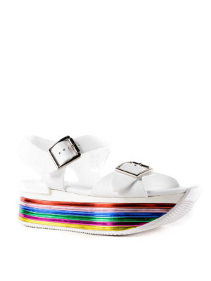 Hogan: sandals online - H369 multicolour sole sandals