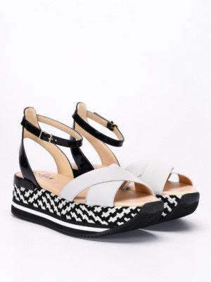 Hogan: sandals online - Maxi H222 crisscross bands sandals