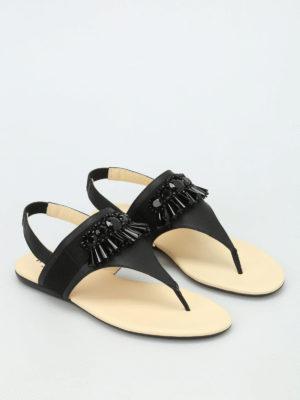Hogan: sandals online - Valencia embellished thong sandals