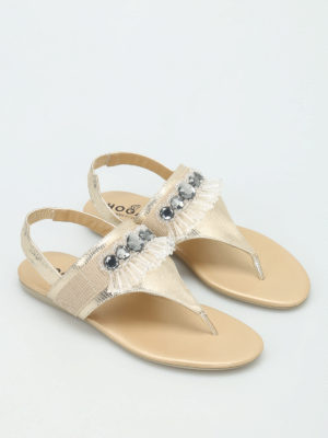 Hogan: sandals online - Valencia thong sandals